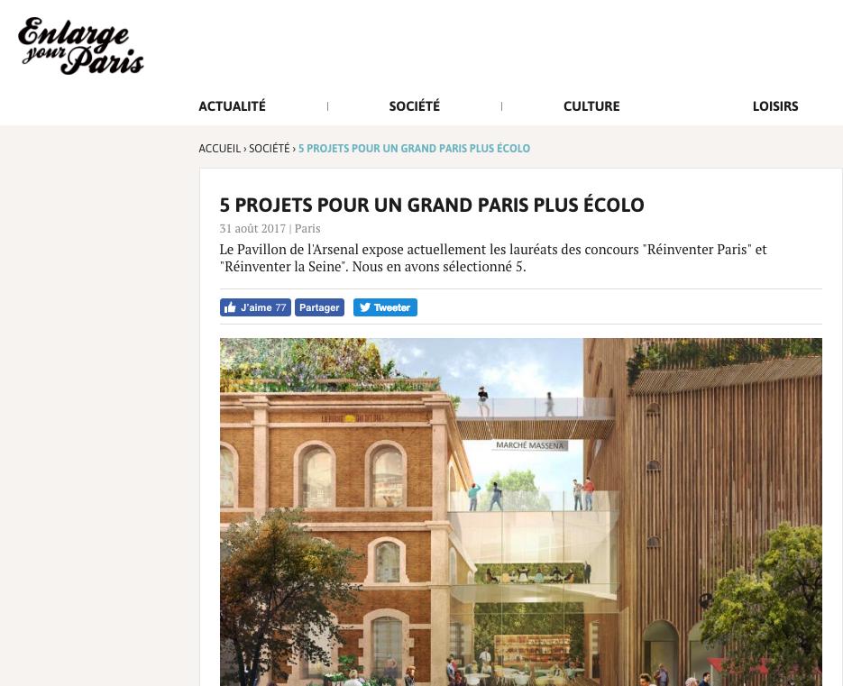Article Grand Paris Ecolo